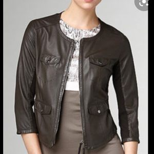 Marc Cain Brown Leather Jacket